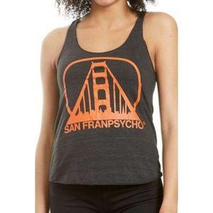 San Franpyscho Charcoal & Orange Logo Racerback